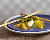 Scallops with orange compote