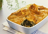 Spanakopita (filo pastry with spinach filling)