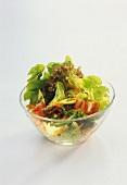 A bowl of mixed salad