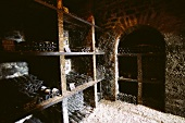 Wine cellar of top Comtes Lafon estate, Mersault, Burgundy