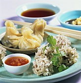 Dim sum with minced pork filling (China)