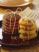 Chocolate- and cranberry biscuits