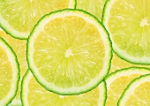 Several slices of lime