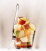 Apple salad with a dash of rum