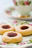 Three Husarenkrapfen (German cookies)