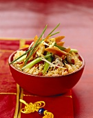 Fried rice with vegetables and mushrooms (Asia)