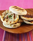 Flatbreads with spring onions