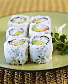 California rolls with avocado