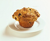 Wholemeal muffin with raisins