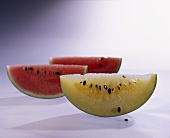 Wassermelone (Citrullus lanatus) klein, rot und gelb
