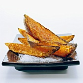 Sweet potato chips with salt