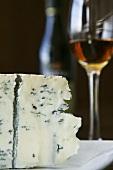 Gorgonzola and glass of Madeira