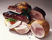 Various types of ham (from Germany)