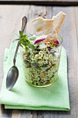 Couscous-Gemüse-Salat im Glas