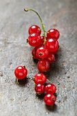 Redcurrants with drops of water