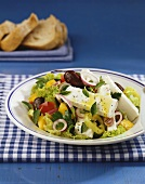 Greek salad with sheep's cheese