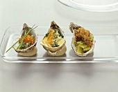 Three different oyster dishes
