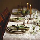 Table laid for Thanksgiving (USA)