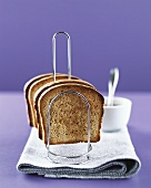 Slices of toasted wholemeal bread