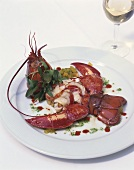 Lobster with mango salsa