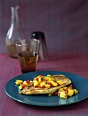 Red mullet fillet with pineapple salsa