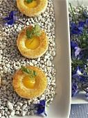 Fried egg cakes for Easter