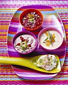 Dips and sauces for barbecued dishes