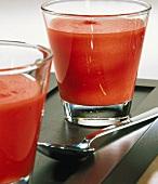 Gazpacho in glass