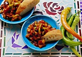 Saksuka (spicy vegetable ragout; Turkey)