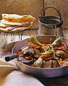 Patlicanli islim kebabi (aubergine roulade with lamb; Turkey)
