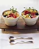 Cassoulet in two bowls