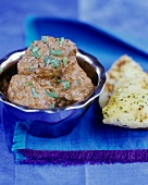Lamb Madras (S. Indian lamb curry with coconut cream)