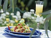 Chicken and spaghetti salad