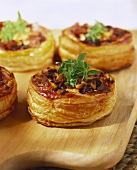 Vol-au-vents with mushroom filling
