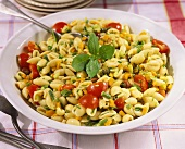 Conchiglie con la salsa cruda (Pasta salad with vegetables)