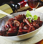 Kidney beans in red wine sauce