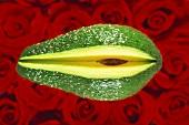 Avocado, a piece cut off