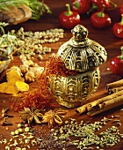 Still life with exotic spices