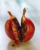 A pomegranate, cut through