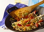 Vegetables cooked in wok