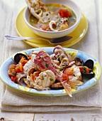 Cacciucco alla livornese (fish stew), Tuscany, Italy