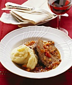 Stracotto (braised beef), Tuscany, Italy