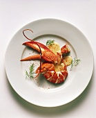 Lobster with cream sauce