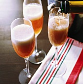 Bellini (champagne and peach cocktail)