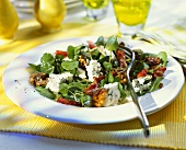 Watercress salad with Roquefort and bacon