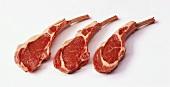 Three lamb cutlets