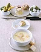 Fonduta valdostana (Cheese fondue with truffle, Italy)
