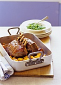 Veal in roasting dish