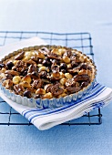 Walnut and macadamia tart