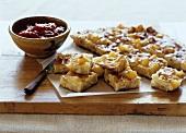 Potato cakes with tomato relish